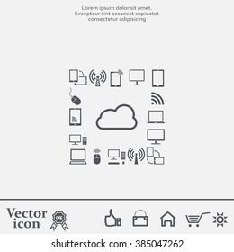 Cloud Computing concept vector icon