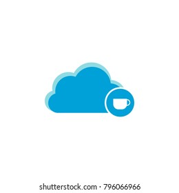 Cloud computing icon, cup icon vector sign