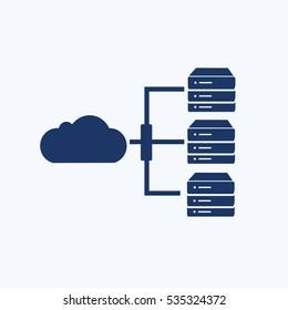 Cloud computing icon design,clean vector