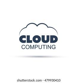 Cloud Computing Icon or Logo Design