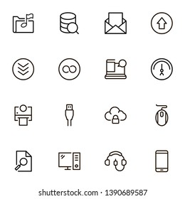 Cloud computing icon set. Collection of high quality black outline logo for web site design and mobile apps. Web cloud vector illustration on a white background