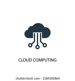 Cloud Computing icon. Simple element illustration. Cloud Computing concept symbol design. Can be used for web and mobile