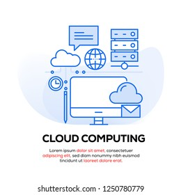 CLOUD COMPUTING INFOGRAPHIC CONCEPT