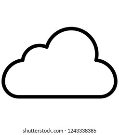 Cloud, computing Isolated Vector Icon that can be easily modified or edited