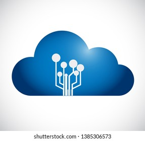 cloud computing and link networks. isolated over a white background