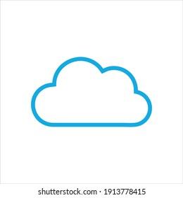 Cloud computing logo design vector
