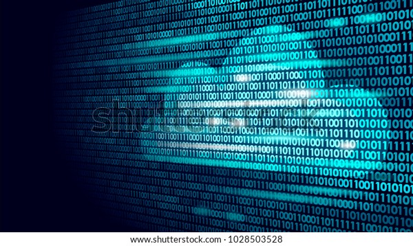 Cloud Computing Online Storage Binary Code Stock Vector (Royalty
