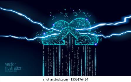 Cloud computing private data security danger. Hacker spy attack information server protection. Virus alert technology cyber internet crime concept vector illustration