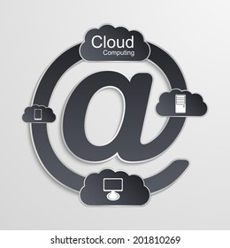 Cloud computing technology concept.