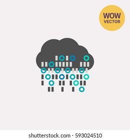 Cloud Computing Vector Icon