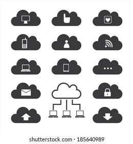 Cloud computing. Vector illustration.