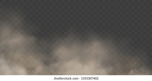 Cloud condensation or white smoke on transparent background. Mystical fog or spooky mist backdrop. Dust effect or explosion ash, space and vapor, dry ice steam and incense, gas and air, fume