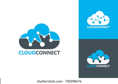 Cloud Connect Logo Template Design