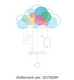 Cloud Connection with vintage colors