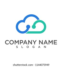 cloud data logo design