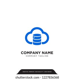 cloud db logo company vector