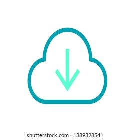 Cloud dowland icon vector that is my job