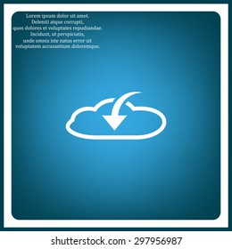 cloud download  icon. vector design