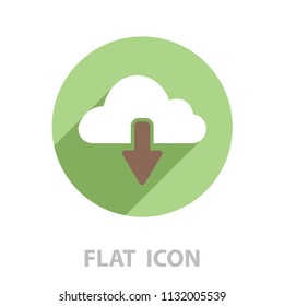 cloud download icon. vector illustration