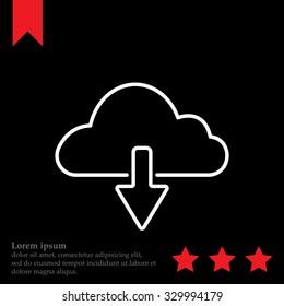 cloud download line icon