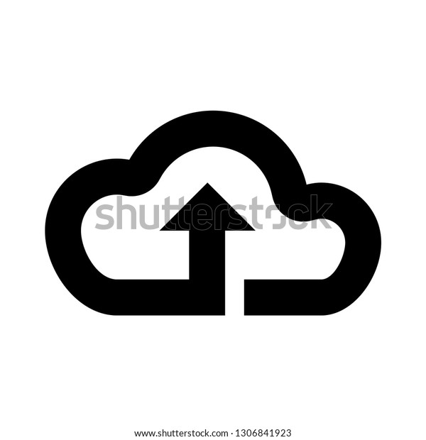Cloud Download Upload Icon File Sync Stock Vector (Royalty