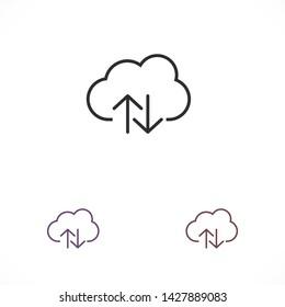 cloud download vector icon 10 eps , Lorem ipsum Flat design