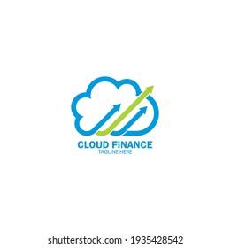 Cloud finance logo vector icon illustration design