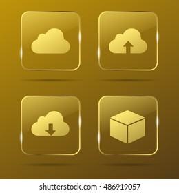 Cloud Gold Buttons
