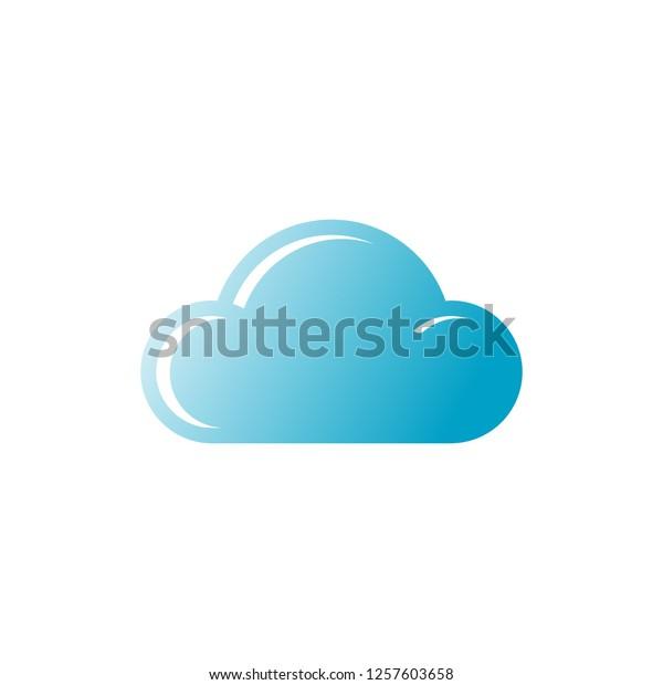 Cloud Icon Editable Vector 64x64 Pixel Stock Vector (Royalty