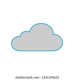 Cloud icon Flat