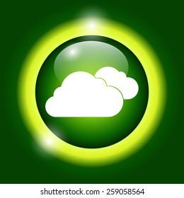 cloud icon, flat vector illustration. EPS 10