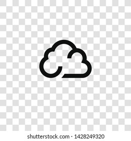 cloud icon from miscellaneous collection for mobile concept and web apps icon. Transparent outline, thin line cloud icon for website design and mobile, app development