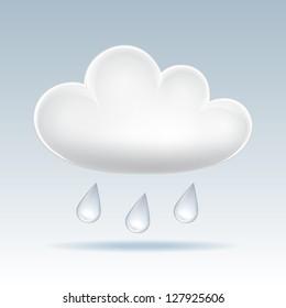 Cute clouds clipart, Digital kawaii rain cloud By Pravokrugulnik    TheHungryJPEG.com