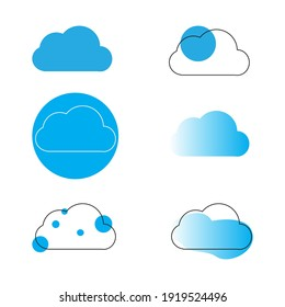 cloud icon set in simple style on isolated white background. cloud icons for your website design logo, app, UI. Vector illustration, EPS10