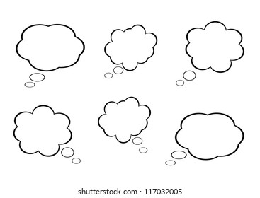 cloud icon, texts box, idea box,vector.