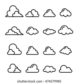Cloud icon in thin line style