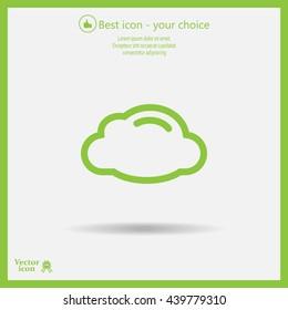 cloud icon, vector illustration. Flat design style