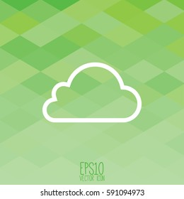Cloud icon, vector illustration. Flat style for graphic and web design, Modern simple vector sign. Internet concept. Trendy symbol for website design web button, mobile app.