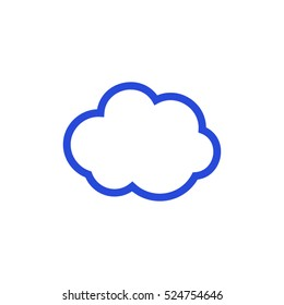 Cloud  icon. vector, weather