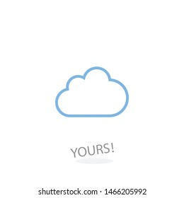 Cloud icon for your web site design, logo, app, UI. Vector illustration . Wheather line.The sign of a cloud. The symbol of a cloud.