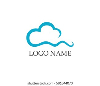 Cloud icons logo vector and template