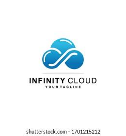 cloud infinity database logo vector