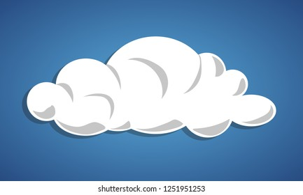 Cloud isolated - simple element vector illustration