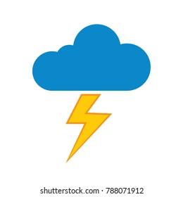 Cloud lightning icon - thunder storm