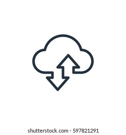 cloud line icon on white background