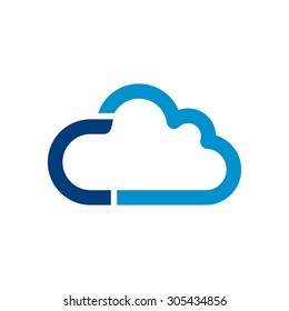 cloud logo. cloud computing template. creative. internet global. upload. data transfer. download website. technology icon. network symbol.