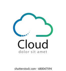 Cloud logo creative design template, cloud computing concept, vector illustration