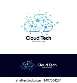 cloud logo designs template, tech logo designs concept