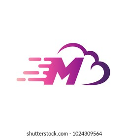 Cloud Logo With Letter M