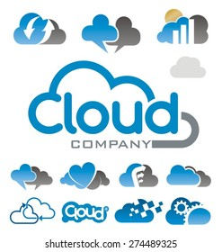 cloud logo symbol vector